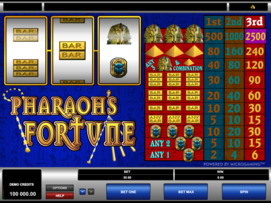 Play free Pharaohs Fortune slot by Microgaming