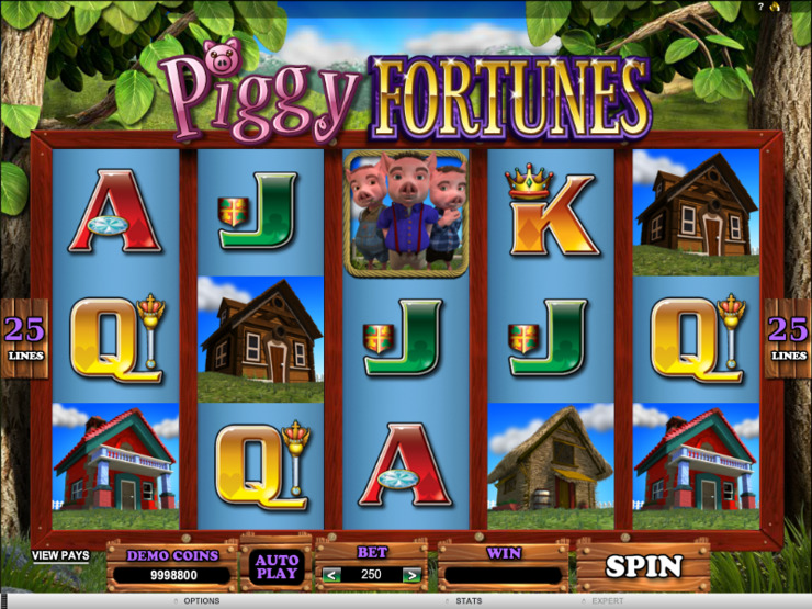 Play free Piggy Fortunes slot by Microgaming