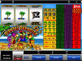 Play free Pirates Paradise slot by Microgaming