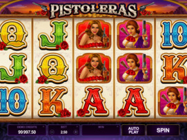 Play free Pistoleras slot by Microgaming