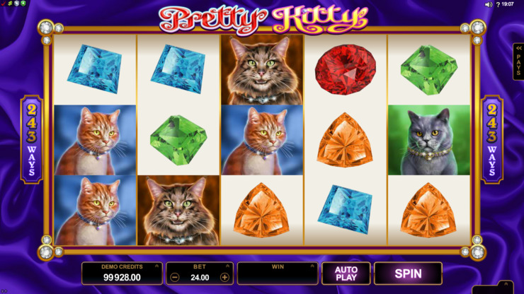 Play free Pretty Kitty slot by Microgaming