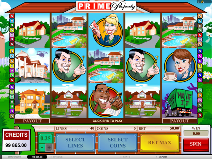 Play free Prime Property slot by Microgaming