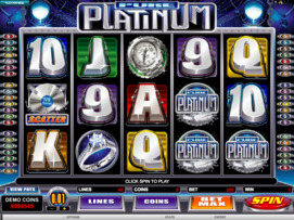 Play free Pure Platinum slot by Microgaming