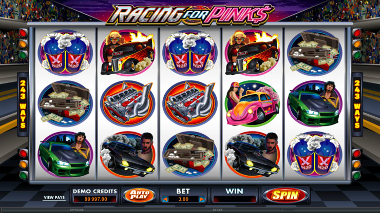 Play free Racing For Pinks slot by Microgaming