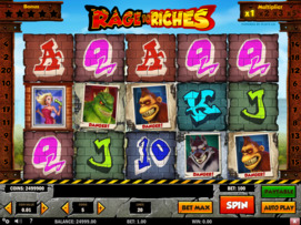 Play free Rage To Riches slot by Play'n GO