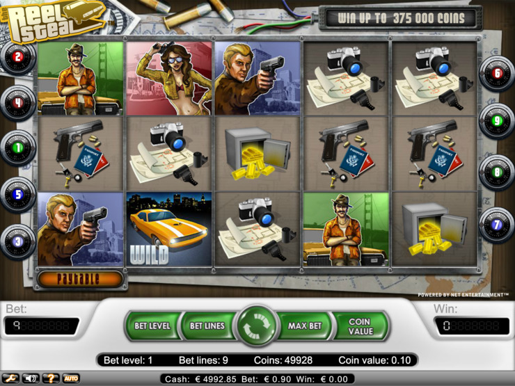 Play free Reel Steal slot by NetEnt