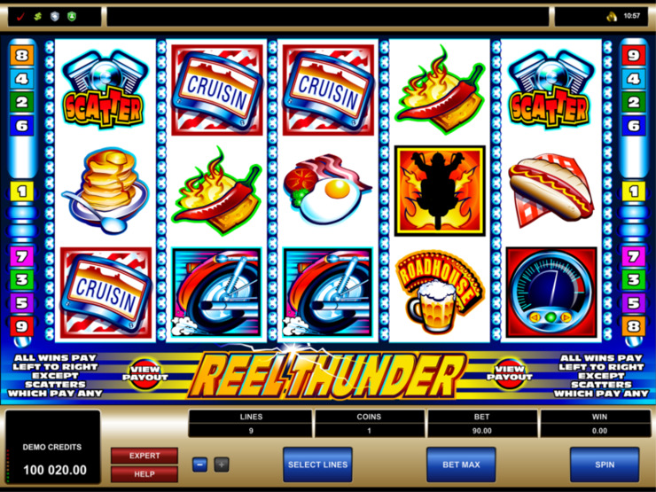 Play free Reel Thunder slot by Microgaming
