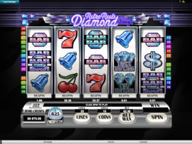 Play free Retro Reels Diamond Glitz slot by Microgaming