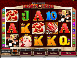 Play free Rhyming Reels Hearts & Tarts slot by Microgaming