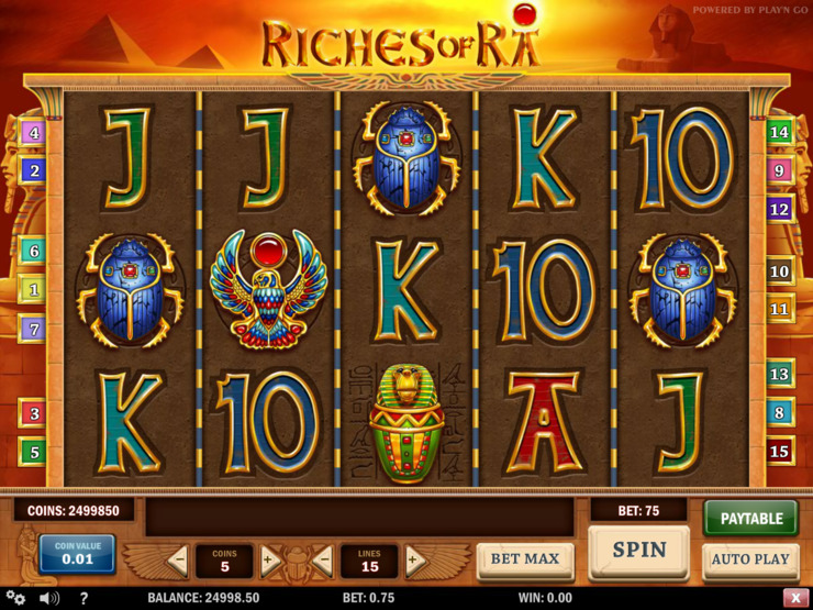 Play free Riches of Ra slot by Play'n GO