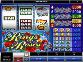 Play free Rings and Roses slot by Microgaming