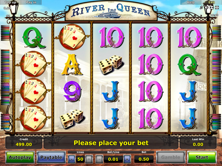 Play free River Queen slot by Novomatic