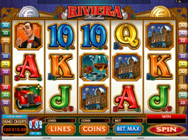 Play free Riviera Riches slot by Microgaming