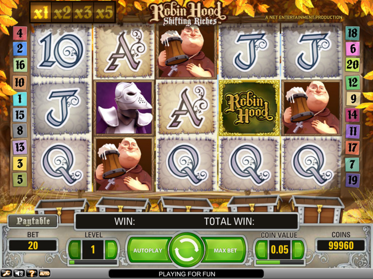 Play free Robin Hood slot by NetEnt
