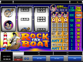Play free Rock the Boat slot by Microgaming