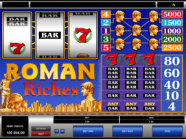 Play free Roman Riches slot by Microgaming