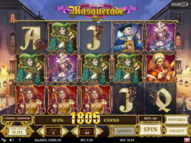 Play free Royal Masquerade slot by Play'n GO