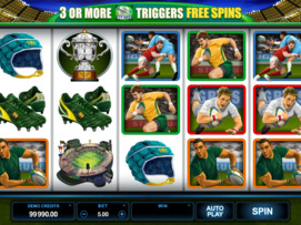Play free Rugby Star slot by Microgaming