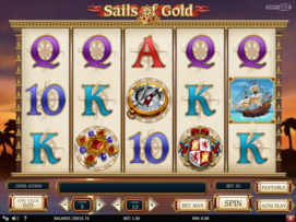 Play free Sails of Gold slot by Play'n GO