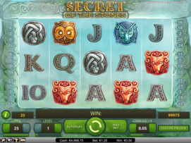 Play free Secret of the Stones slot by NetEnt