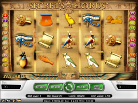 Play free Secrets of Horus slot by NetEnt