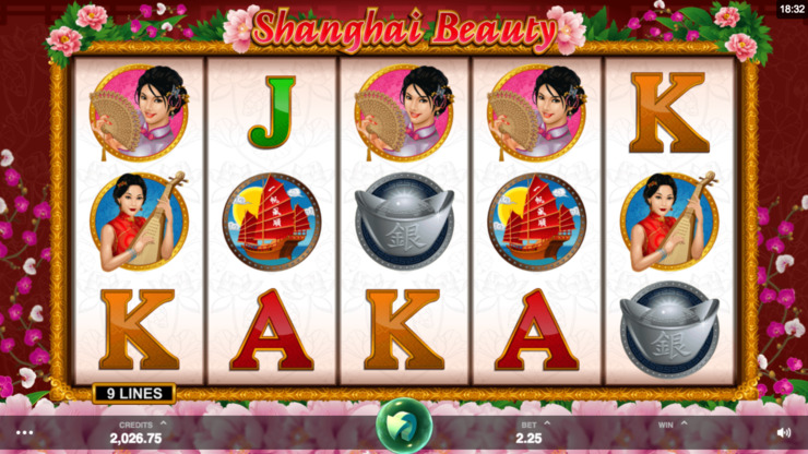 Play free Shanghai Beauty slot by Microgaming