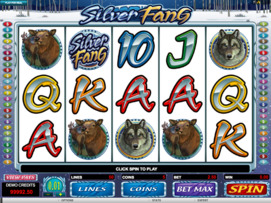 Play free Silver Fang slot by Microgaming