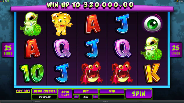 Play free So Many Monsters slot by Microgaming