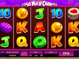 Play free So Much Candy slot by Microgaming