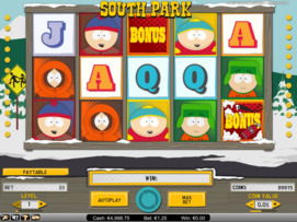 Play free South Park slot by NetEnt
