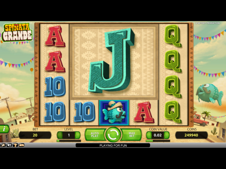 Play free Spinata Grande slot by NetEnt