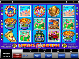 Play free Spring Break slot by Microgaming