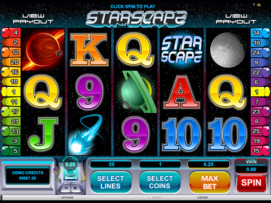 Play free Starscape slot by Microgaming