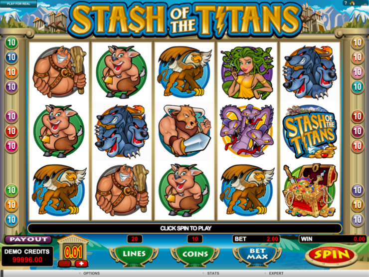 Play free Stash of the Titans slot by Microgaming