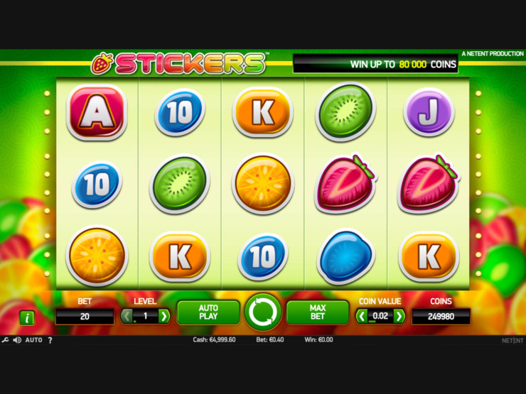 Play free Stickers slot by NetEnt