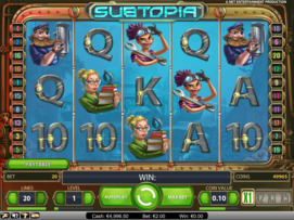 Play free Subtopia slot by NetEnt