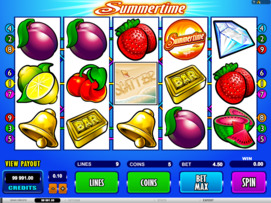 Play free Summertime slot by Microgaming