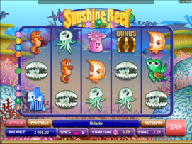 Play free Sunshine Reef slot by Microgaming