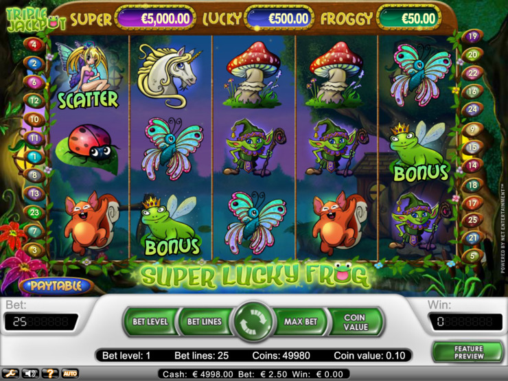 Play free Super Lucky Frog slot by NetEnt