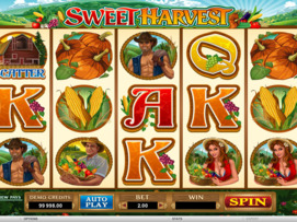 Play free Sweet Harvest slot by Microgaming