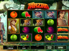 Play free Tarzan slot by Microgaming