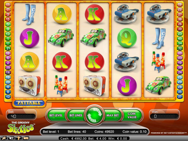 Play free The Groovy Sixties slot by NetEnt