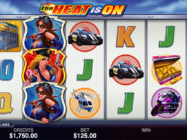 Play free The Heat is On slot by Microgaming