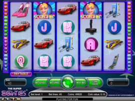 Play free The Super Eighties slot by NetEnt