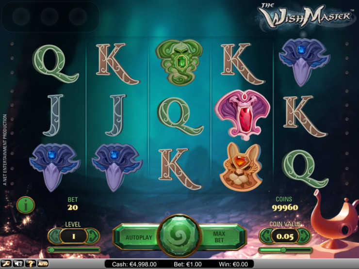 Play free The Wish Master slot by NetEnt
