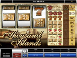 Play free Thousand Islands slot by Microgaming