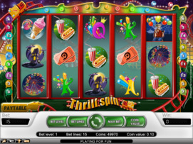Play free Thrill Spin slot by NetEnt