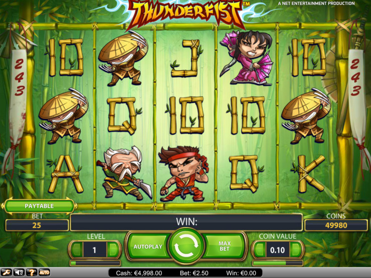 Play free Thunderfist slot by NetEnt