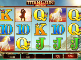 Play free Titans of the Sun: Hyperion slot by Microgaming