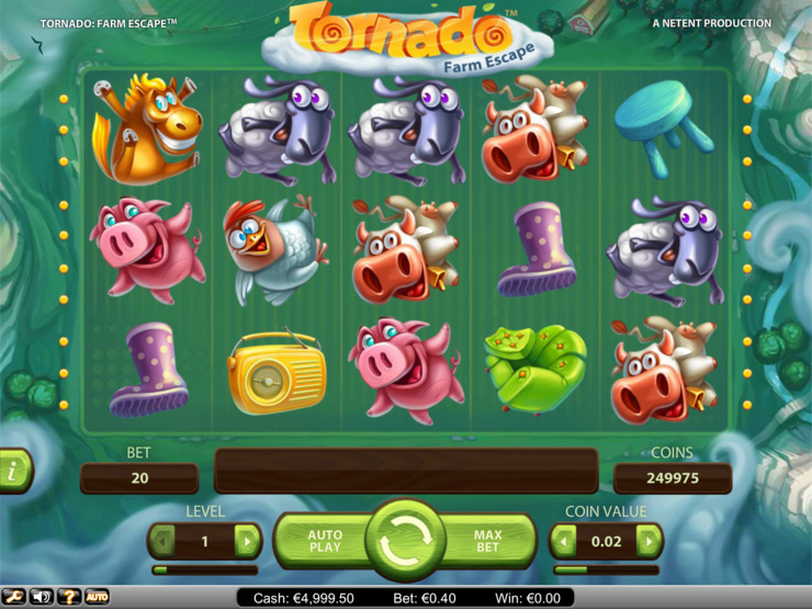 Play free Tornado Farm Escape slot by NetEnt